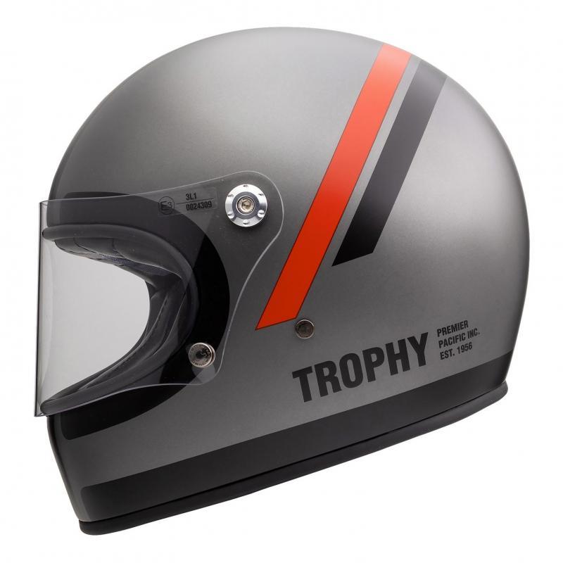 Casque intégral Premier Trophy DO17 BM gris/rouge/noir - 1
