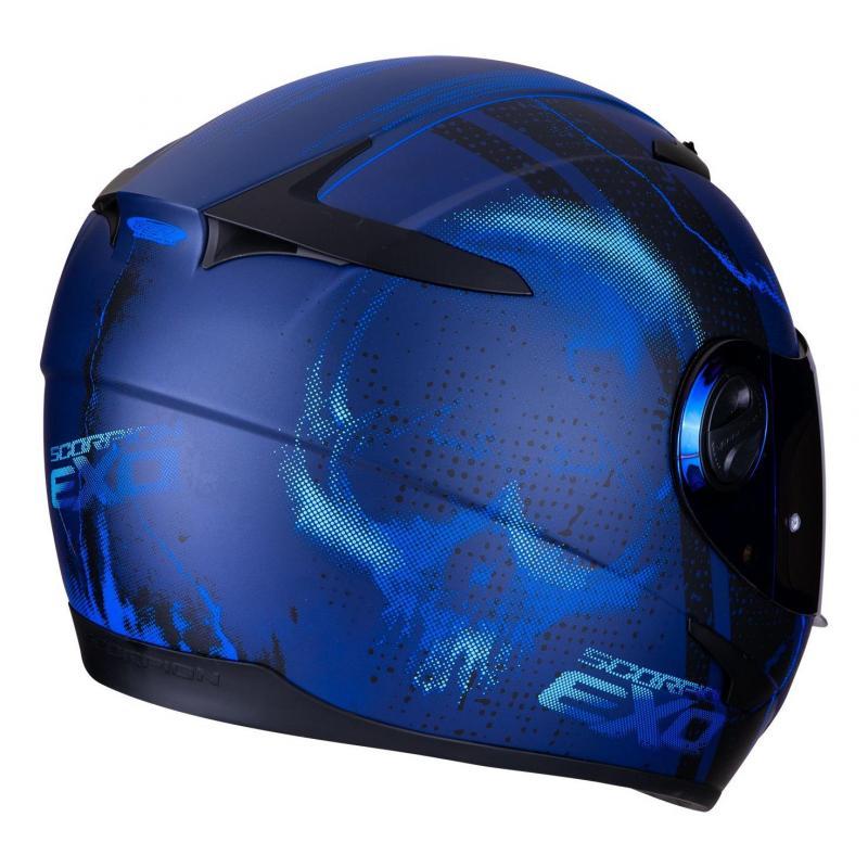 Casque intégral Scorpion Exo-490 Dar Mat bleu - 2