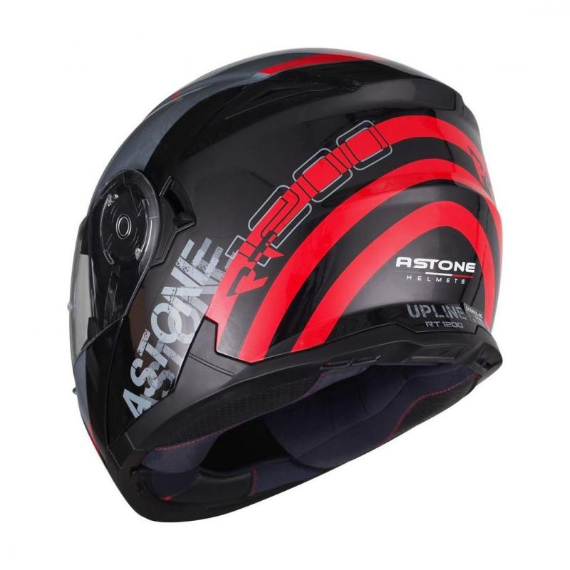 Casque modulable Astone RT 1200 graphic UPLINE rouge/gris - 1