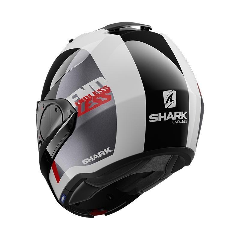 Casque modulable Shark EVO ES Endless blanc/noir/rouge - 3