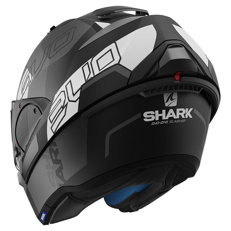 Casque modulable Shark EVO-ONE 2 SLASHER MAT noir/anthracite/blanc - 4