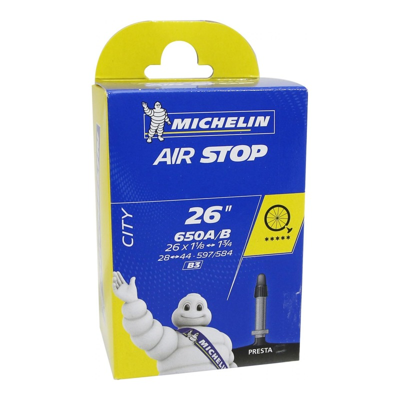 Chambre à air vélo Michelin Air Stop 650 A/B x 28/44 B3 Presta 29mm