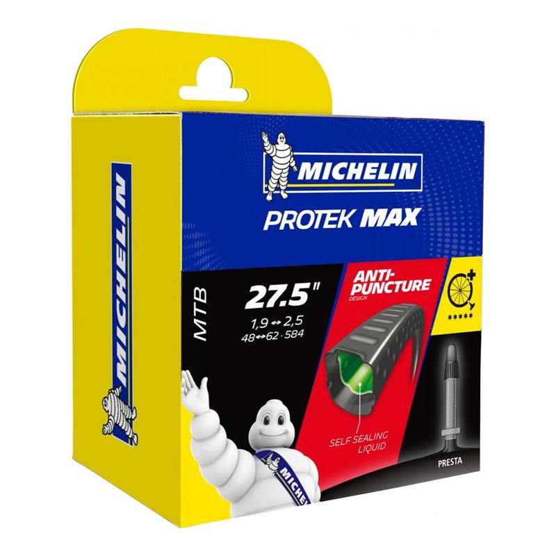 Chambre à air vélo Michelin Protek Max 27,5 x 1,90/2,30 Schrader (avec liquide anti-crevaison)