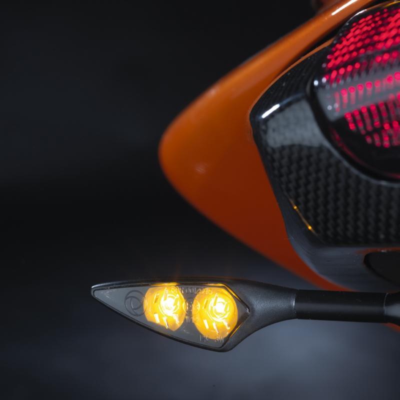 Clignotant LED Kellermann Micro Rhombus noir avec verre fumé AV G / AR D - 3