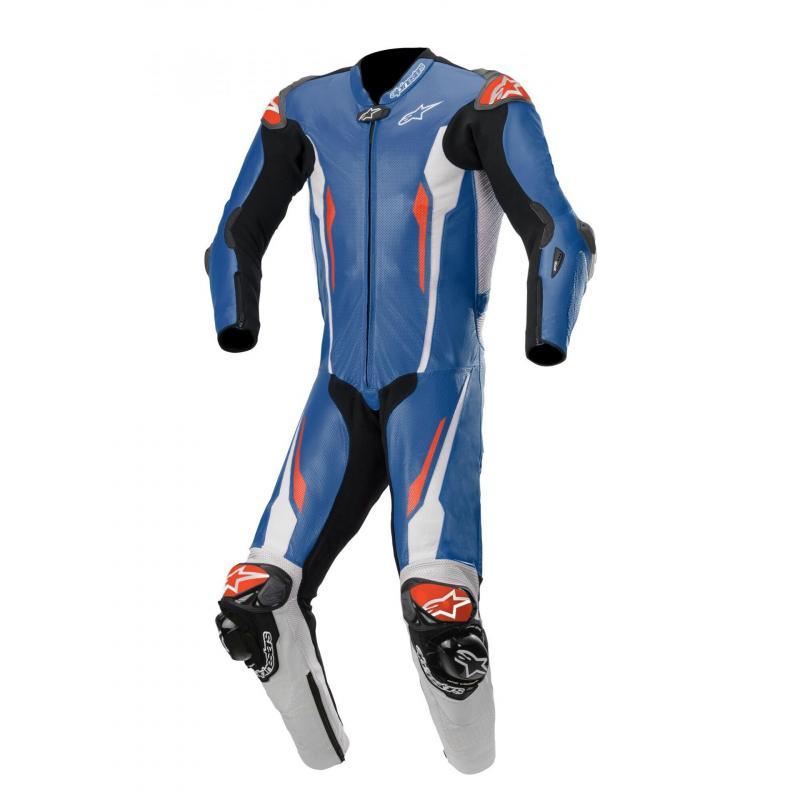 Combinaison 1 pièce Alpinestars Racing Absolute compatible Tech-Air bleu/blanc/noir