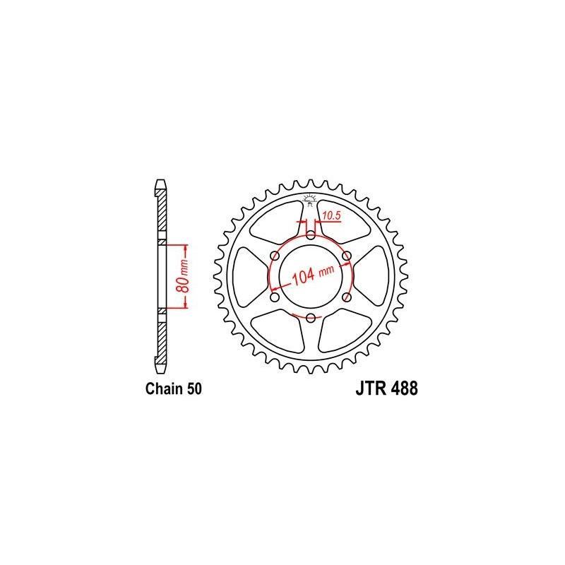Couronne JT Sprockets Acier pas 530 45 dents - Pour Kawasaki ZXR 750 R 91-92