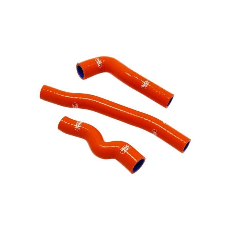 Durites de radiateur Samco Sport Thermostat Bypass KTM 150 EXC TPI 2020 orange (2 durites)