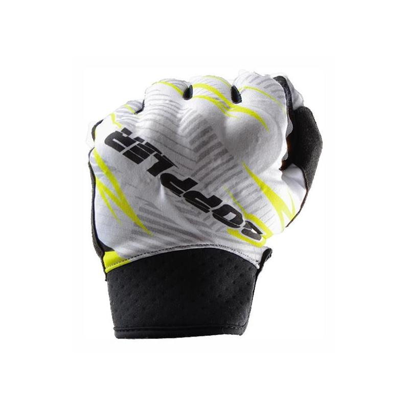 Gants cross Doppler blanc / jaune / noir - 1