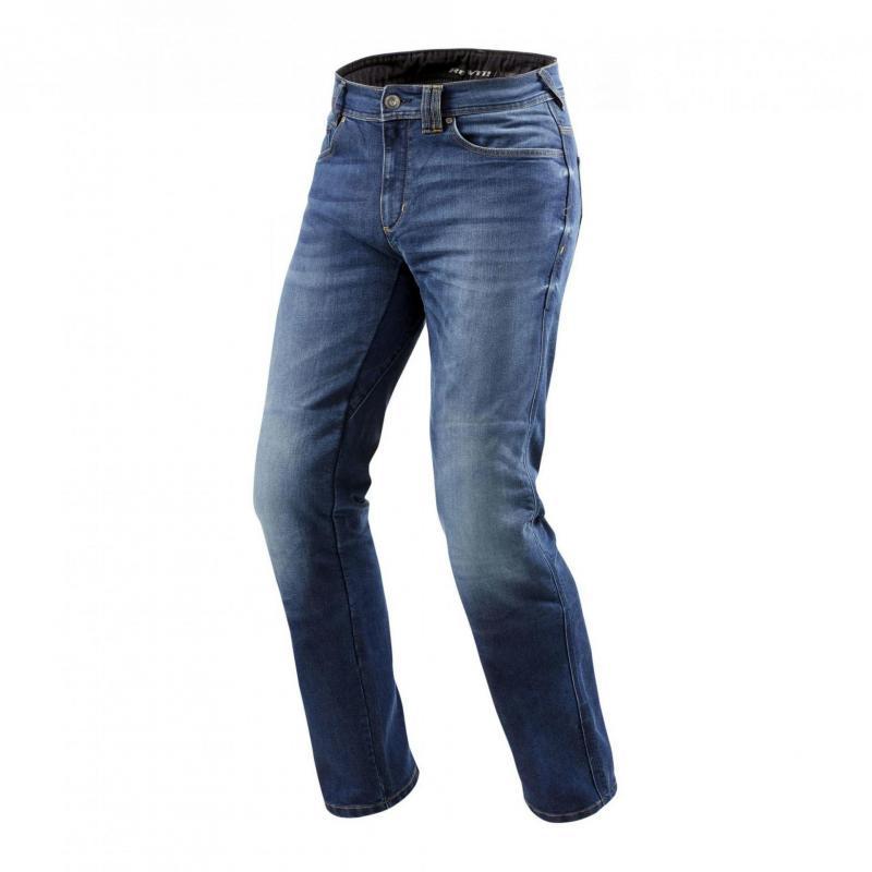 Jeans moto Rev'it Philly 2 LF longueur 36 (long) bleu moyen