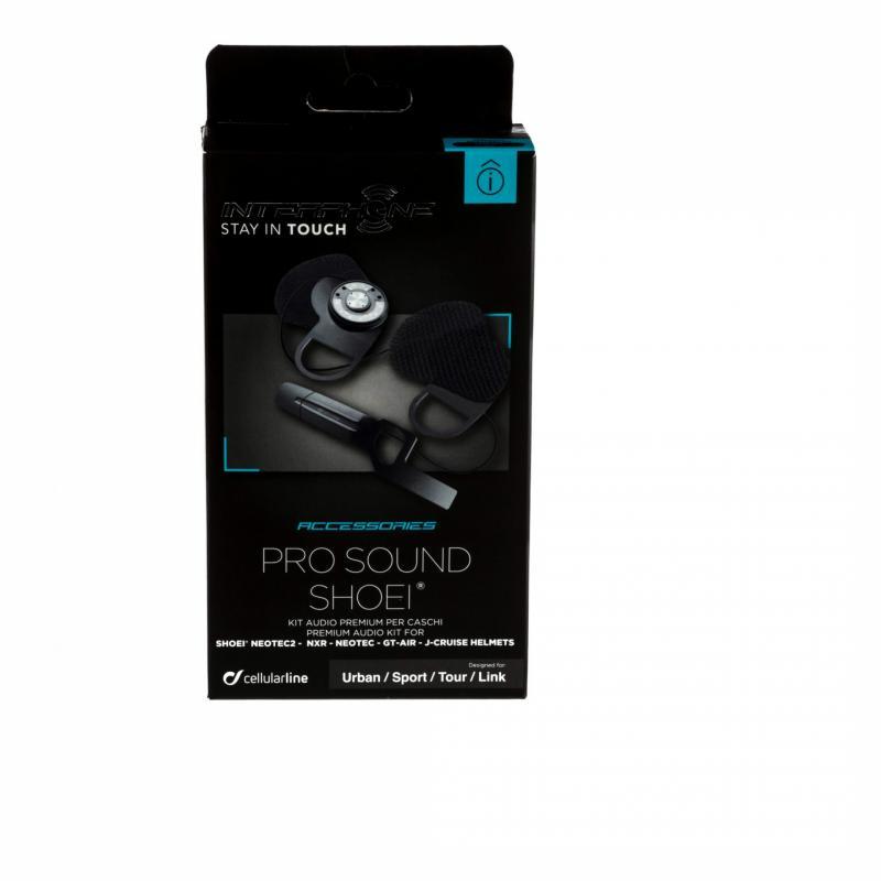 Kit audio Pro Sound Cellularline pour casques Shoei Neotec 2/NXR - 1