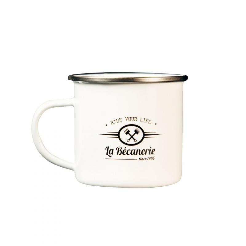 Mug vintage La Bécanerie blanc - 2