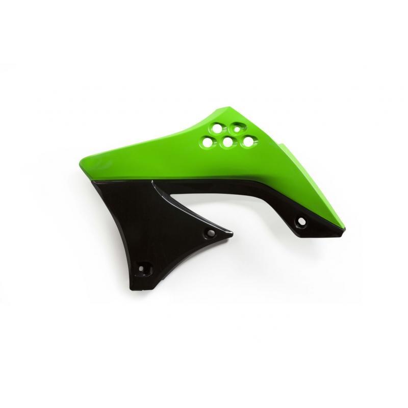 Ouïes de radiateur Acerbis Kawasaki 450 KXF 09-11 vert/noir (paire)