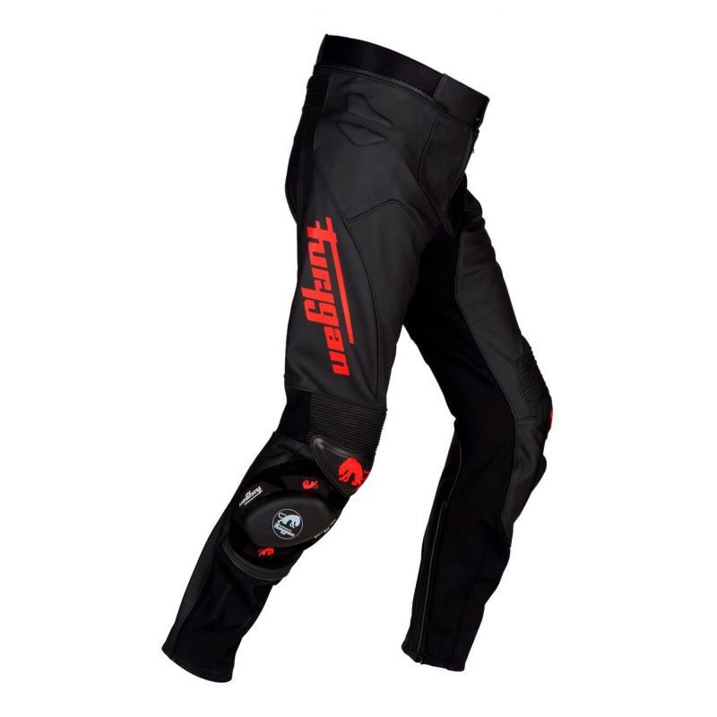 Pantalon cuir Furygan Raptor Evo noir/rouge - 3