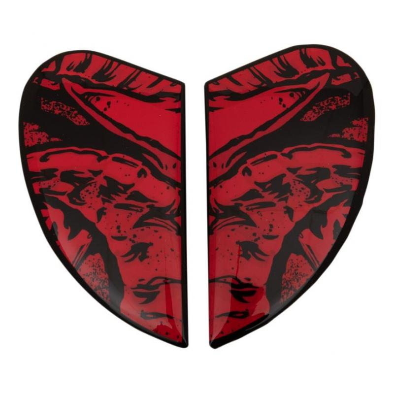 Plaques latérale Icon pour casque Airform Sacrosanct rouge