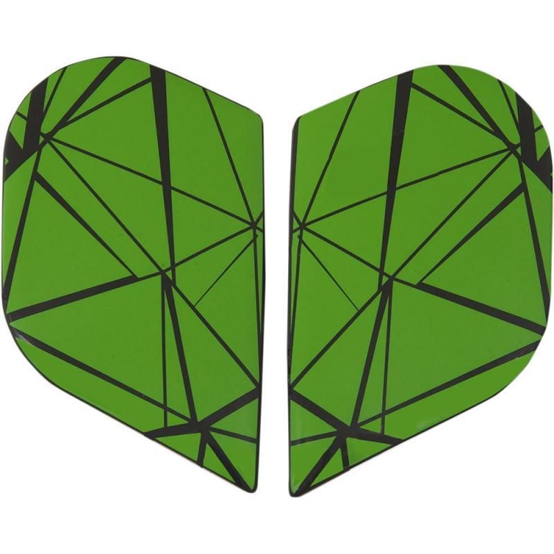 Plaques latérales Icon Alliance Crysmatic Hi-viz vert