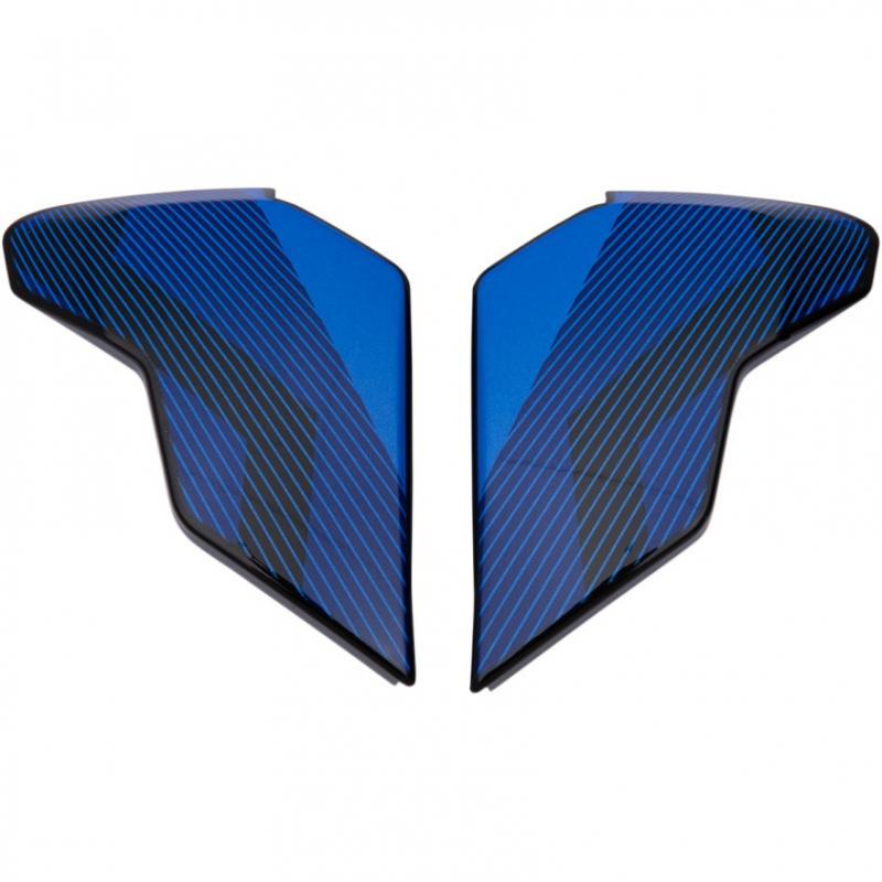 Plaques latérales Icon pour casque Airflite QB1 bleu