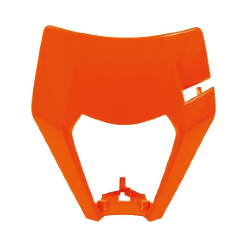 Plastique plaque phare RTech KTM 125 EXC 17-19 orange (couleur OEM 17-18 et Six Days 19)