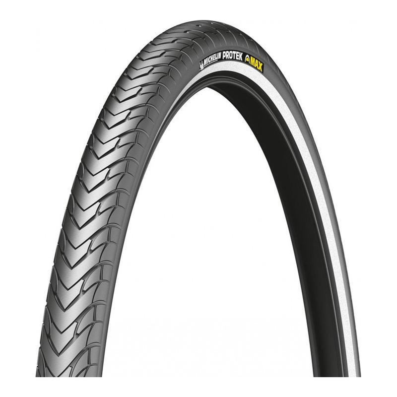 Pneu vélo City/VTC Michelin Protek Max TR noir/flanc réfléchissant (700x28C)