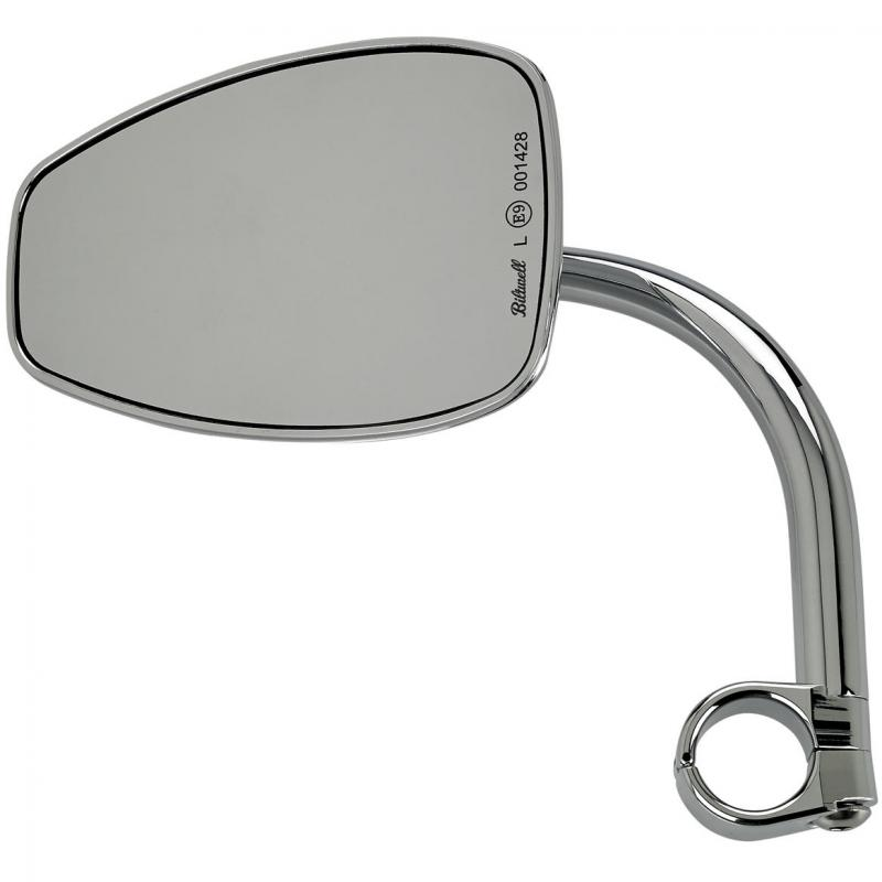 Rétroviseur Biltwell Tear Drop HD chromé fixation guidon Ø 25,4 mm