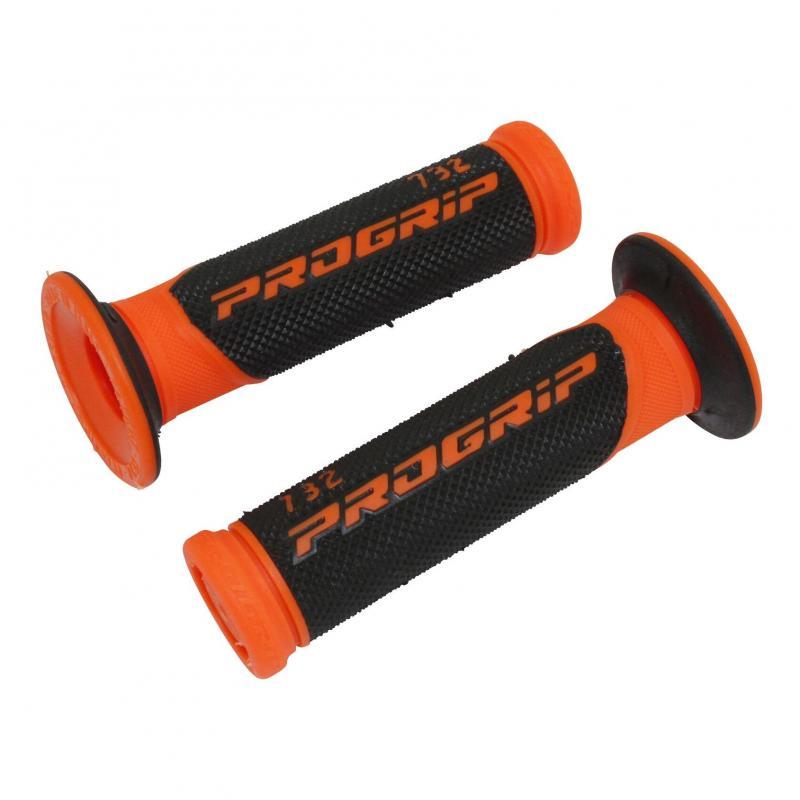 Revêtements de poignée 732 Progrip Closed end noir/orange fluo