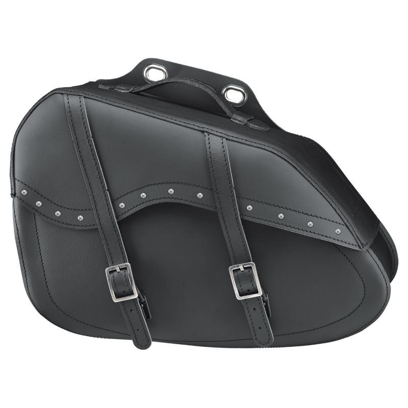 Sacoches latérales Held Cruiser Taper Bag noir avec rivets