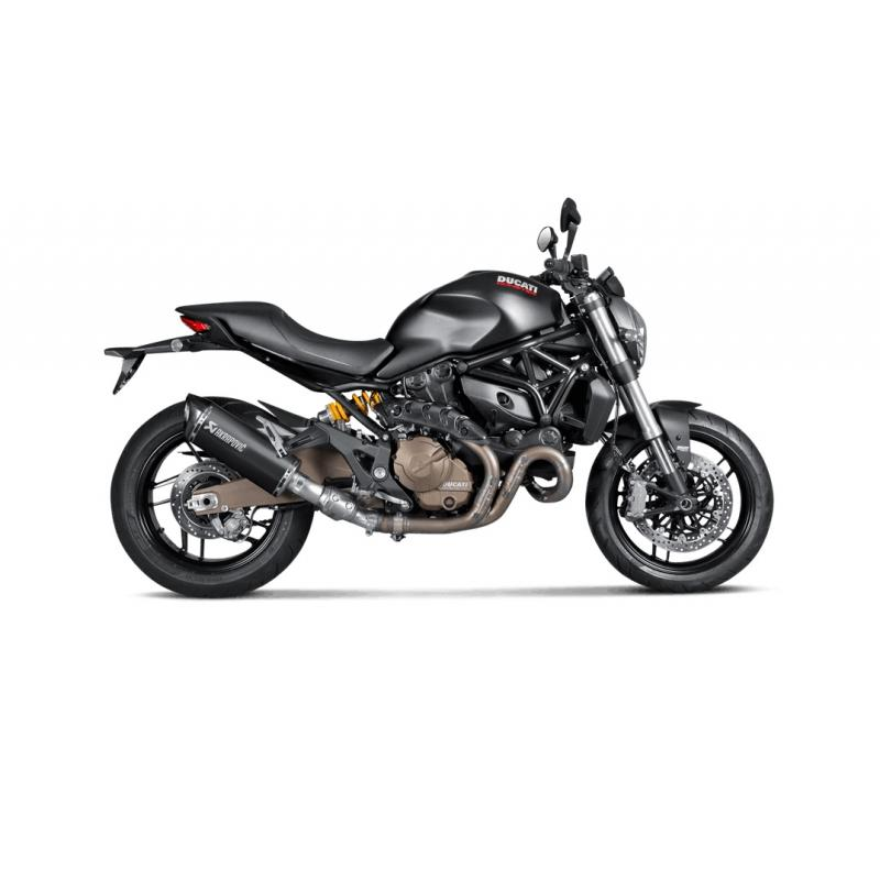 Silencieux Akrapovic Titane noir casquette carbone Ducati Monster 821 14-16