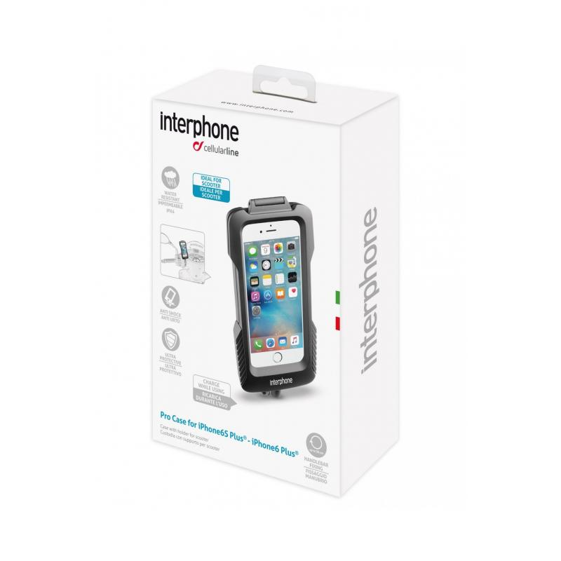 Support guidon non tubulaire Cellularline pour Iphone 6 Plus - 1