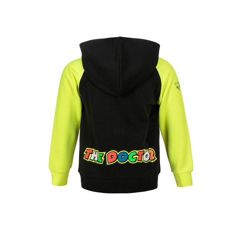 Sweat zip capuche enfant VR46 Valentino Rossi Race noir 2018 - 1