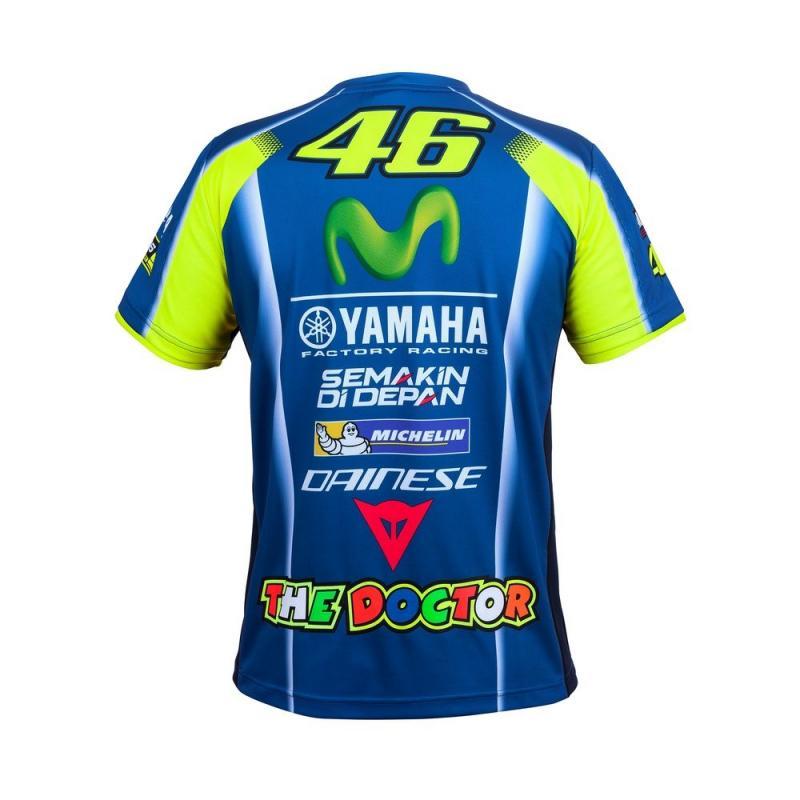 Tee shirt VR46 Valentino Rossi Yamaha Replica bleu 2017 - 1