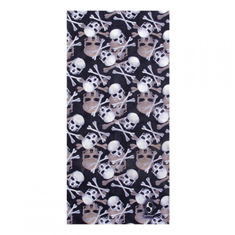 Tour de cou Schampa & Dirt Skins Mini Skulls/Crossbones noir/blanc/beige