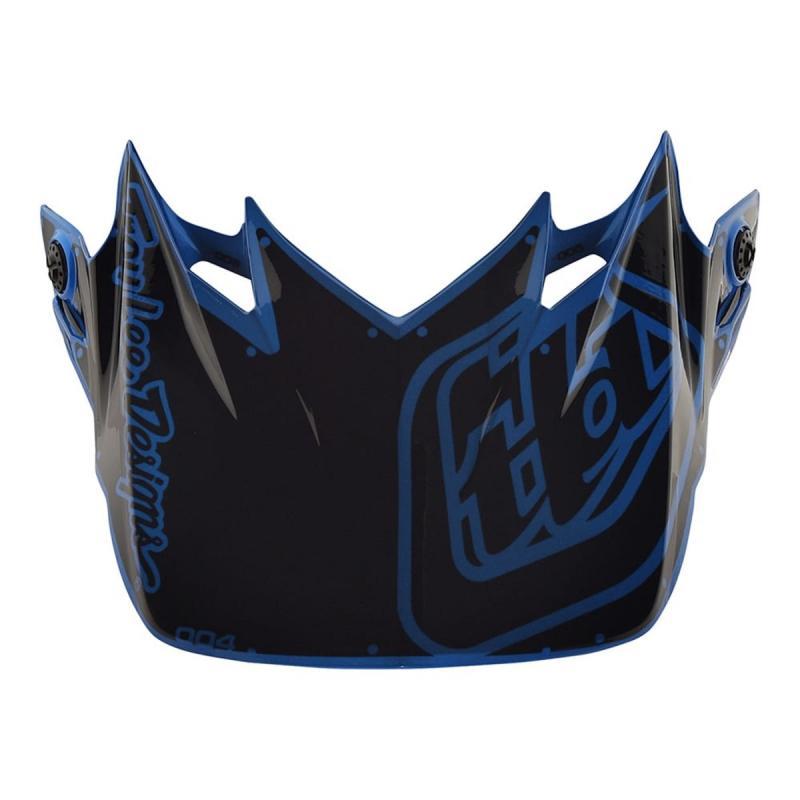 Visière Troy Lee Designs pour casque SE4 Factory polyacrylite bleu
