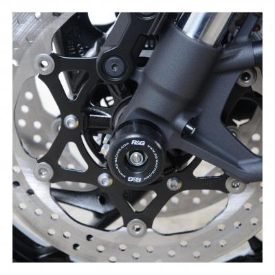 Tampons de protection de fourche R&G Racing noir Suzuki GSX 1000 Katana 19-20