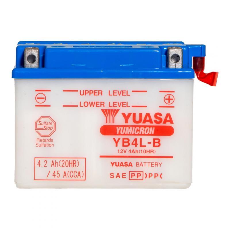 Batterie Yuasa YB4L-B 12V 4Ah avec pack acide - 3