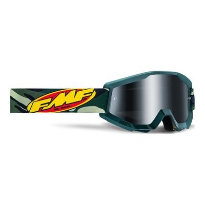 Masque cross FMF Vision PowerCore Assault camo vert - écran iridium argent