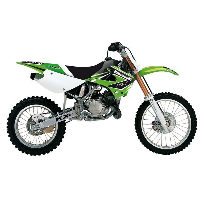 Kit déco + housse de selle Blackbird Dream Graphic 4 Kawasaki 85 KX 01-13 vert/noir