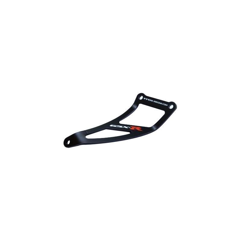 Patte de fixation de silencieux R&G Racing noire Suzuki GSX-R 600 01-04 l'unité