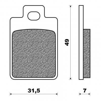 Plaquettes de frein Newfren Standard organique .FD.0225 BS
