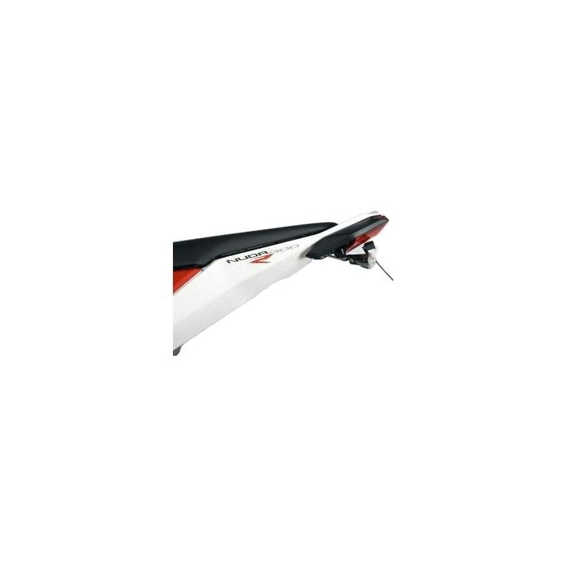 Support de plaque d'immatriculation R&G Racing noir Husqvarna Nuda 900 R 12-13
