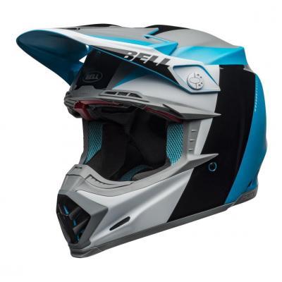 Casque cross Bell Moto-9 Flex Division blanc/noir/bleu