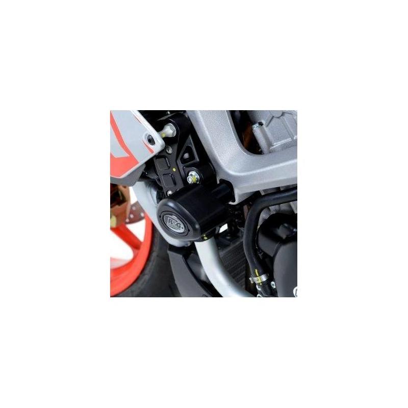 Tampons de protection R&G Racing Aero noir Aprilia RS4 125 11-16