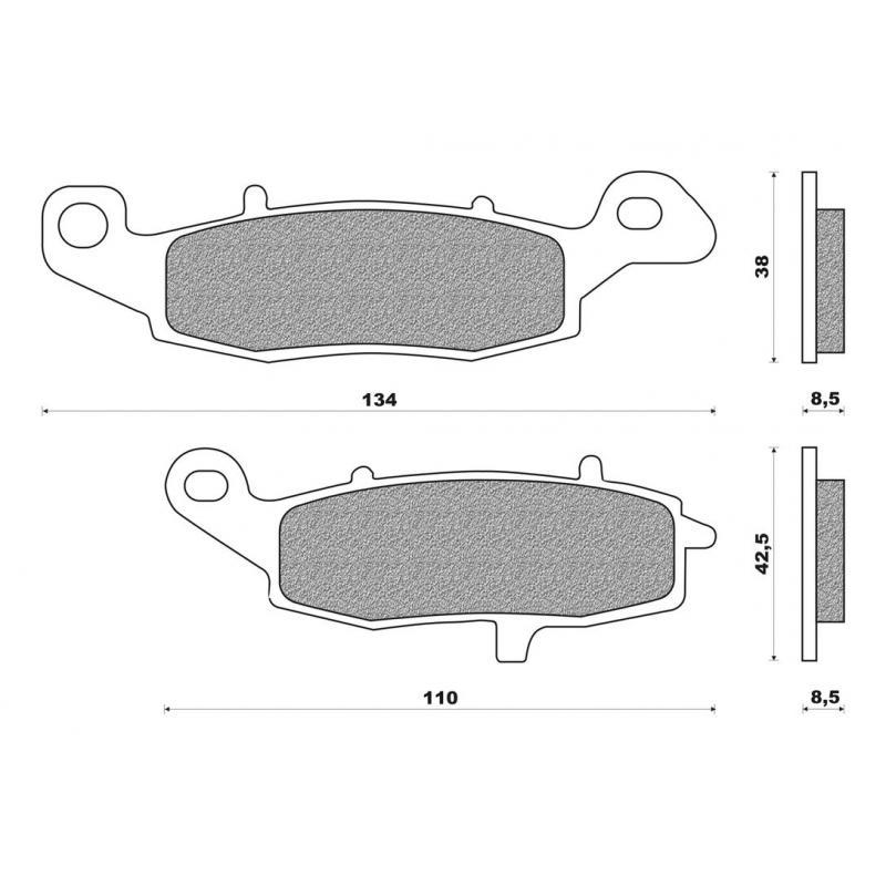 Plaquettes de frein Newfren FD0228BT pour Kawasaki 650 Versys 07-14 / 900 VN 06-16 / Suzuki Gladius