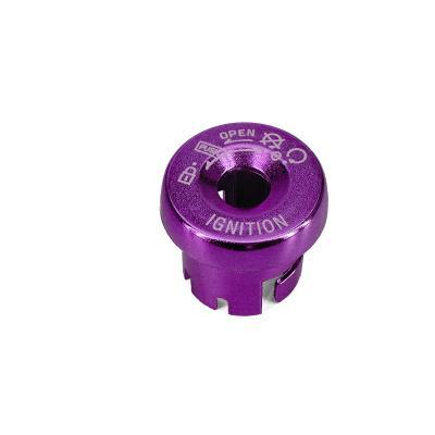 Capuchon de contacteur à clé neiman adaptable pour Nitro Booster 04 Ovetto violet