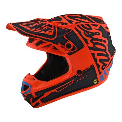 Casque cross Troy Lee Designs SE4 Polyacrylite Factory orange