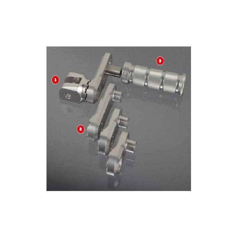 Adaptateurs de repose-pieds passager MFW réglables Aprilia RSV4 Factory 09-15 - 1