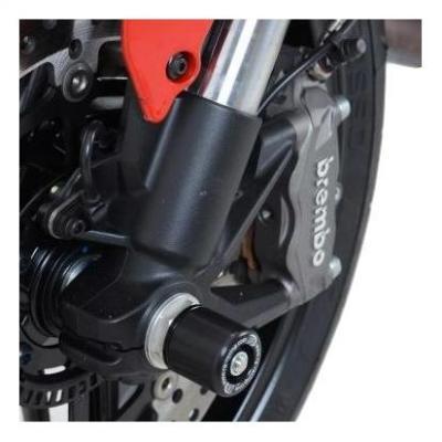 Tampons de protection de fourche R&G Racing noirs petite bobines Ducati Monster 1200 14-16