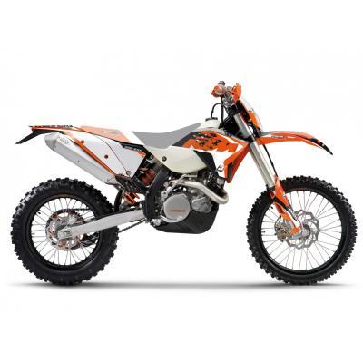 Kit déco Blackbird Racing Dream 4 KTM 125 EXC 08-11 orange/noir/blanc