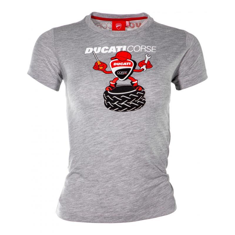 T-Shirt enfant Ducati Racing Kid gris