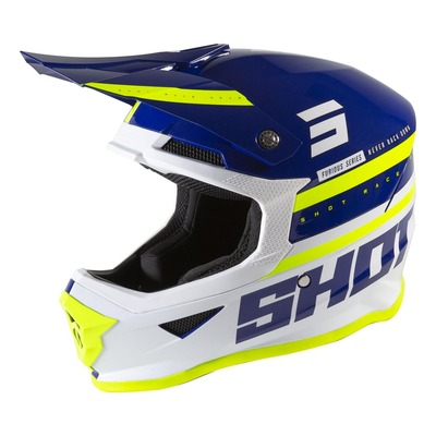 Casque cross Shot Furious Shining brillant navy