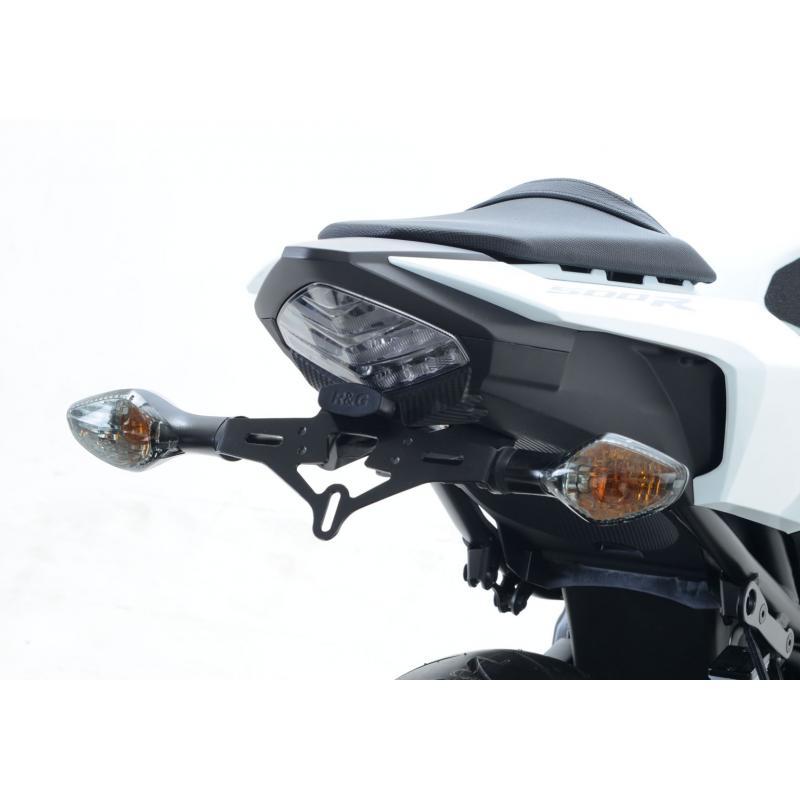 Support de plaque d'immatriculation R&G Racing noir Honda CBR 500 R 16-18 - 1
