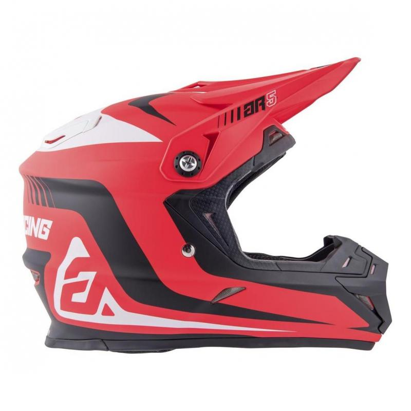 Casque cross Answer AR5 Pulse rouge/blanc - 4